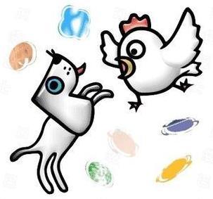 猜一猜关于鸡和狗的成语图片